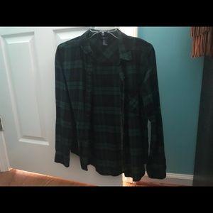 Dark green forever21 flannel